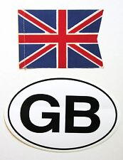 Original 1970's British Union Jack flag/banner and GB Euro oval vinyl sticker