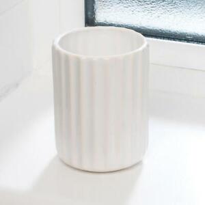 Beldray White Dolomite Ceramic Bathroom Lavatory Toothpaste Toothbrush Tumbler