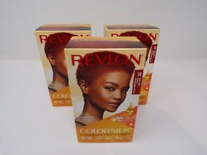 Revlon Colorsilk Moisture Rich Hair Color 74 Bright Auburn VF Lot of 3
