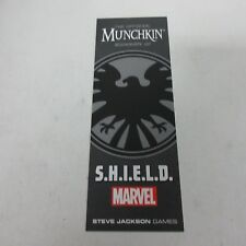 Steve Jackson Games USAopoly Marvel Munchkin SHIELD Bookmark NEW