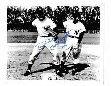 PHIL RIZZUTO TONY KUBEK NEW YORK YANKEES SHORTSTOPS SIGNED 8X10 PHOTO NUMBER 10