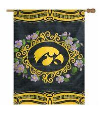 NCAA Iowa Hawkeyes Polyester Indoor Outdoor House Flag Banner 27x37 Inch