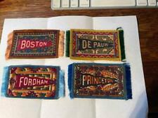 Lot of 4 vintage Luxury Cigarette Tobacco College Felts mini carpets rugs