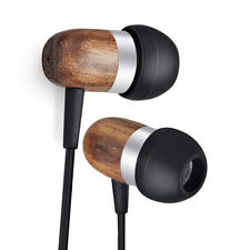 ESMOOTH Wood Wired Earbuds In-ear HD Stereo Noise-isolating Earphones w/Mic&C