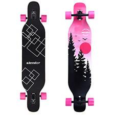 Slendor Longboard Skateboard 42 inch Drop Through Deck Complete Maple Cruiser