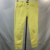 J Crew womens jeans size 27 Toothpick skinny stretch yellow summer ankle