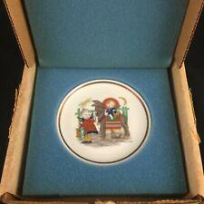 Vtg Miniature Collector Plate Berta Hummel Museum Sacred Journey Schmid 1975