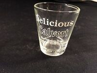 """Vintage Delicious Calvert Whiskey You'll Remember Shot Glass Collectible 2-1/4"""""""