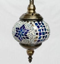 Hängelampe Lampe Orientalisch Istanbul Mosaiklampe Orient 1001 Nacht GL06BL-b