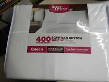 BETTER HOMES AND GARDENS 400 THREAD COUNT EGYPTAIN COTTON SHEET SET - QUEEN