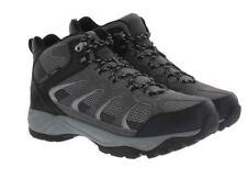 45479dd71e76 New Khombu Men s Tyler Hiking Boots Waterproof Black Gray Leather Upr Pick  Size