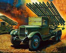 Zvezda 1/100 15mm katjuša Rocket Mortaio PLATOON 4 veicoli Flames of War