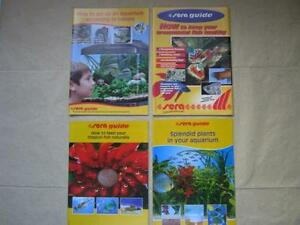 SERA Guide to Freshwater Aquarium Set-Up Lot of 4 Booklets