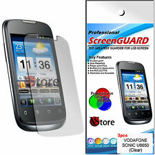 3 Para Películas Vodafone Sonic U8650 Protector De Pantalla Display Película