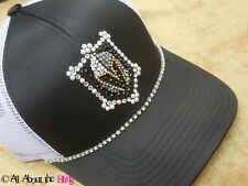 Vegas Golden Knights hat hand jeweled VGK cap with Swarovski Crystals and Pearls