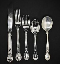 GORHAM CHANTILLY STERLING FLATWARE SET  FOR 8  SETTINGS TRUE LARGEST DINNER SIZE