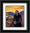 Edvard Munch 2x Matted 20x24 Framed Art Print 'Friedrich Nietzsche'