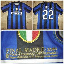 Maglia Inter Finale Champions 2009-2010 Calcio Milito Zanetti