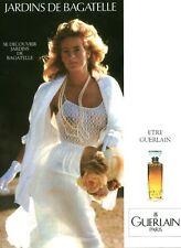 Publicité ancienne Parfum Jardins de Bagatelle Guerlain non parfumé