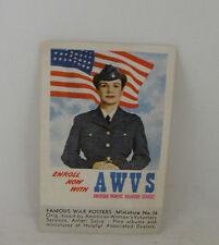 AMERICAN WOMEN'S VOLUNTARY SERVICES - Famous War Posters Minature  No. 16,  1943