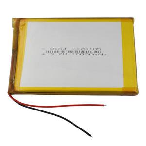3.7V 10000 mAh Polymer Li Lipo Battery 1070105 For Tablet PC GPS power bank DVD