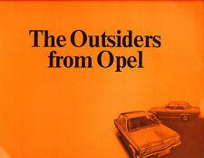 1971 Opel Ascona 24-page Original Car Sales Brochure Catalog
