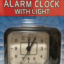 Small Portable Desk Top Quartz Travel Alarm Clock ~ EASY TO READ WITH LIGHT NEW