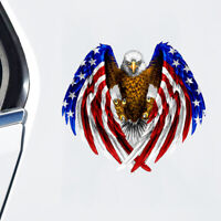 Bald Eagle USA American Flag Sticker Car Truck Window Decoration Bumper Decal