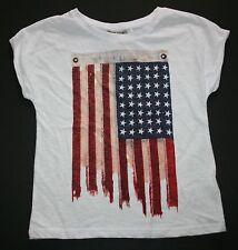 Nuevo NEXT UK BANDERA EEUU camiseta talla 5 6 116cm NUEVO CON ETIQUETA Julio 4ª