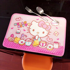 Cute Hello Kitty Nylon Washed Placemats Dinner Mat Handwork Working Mat