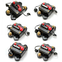80-300A Car Inline Manual Reset Circuit Breaker Fuse Power Protection DC 12V-24V