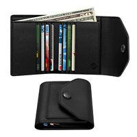 Money Clip Wallet Card Holder Bifold Purse Credit ID Card Case RFID Blocking