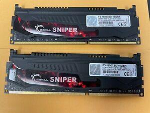 G.SKILL Sniper Series 16GB (2 x 8GB) 240-Pin DDR3 SDRAM DDR3 1600 (PC3 12800)