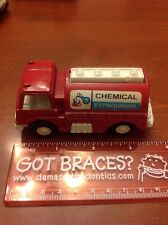 1970 Tootsietoy CHEMICAL EXTINGUISHER Red Truck Tootsie Toy Made in USA