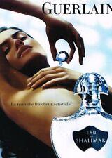 F- Publicité Advertising 2008 Parfum Eau de Shalimar par Guerlain