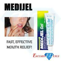 Medijel Oral Gel Mouth Ulcers Sore Gums & denture pain Rubbing Effective Relief