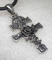 Latin Patriarchal Rose Cross of Lorraine Croix de Lorraine Latino Pewter Pendant