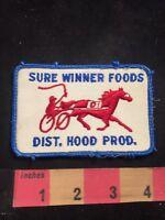 Vtg SURE WINNER FOODS DIST. HOOD PROD. (Hood Dairy ?)  Advertising Patch C80U
