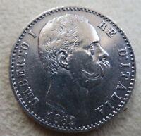 ITALY 2 lire 1882 VF