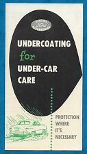 C1960'S FORD ADVERTISING LEAFLET FOR PROTECTIVE UNDERCOATING ON VEHICLES