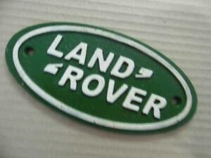 ANTIQUE VINTAGE STYLE PAINTED CAST IRON ADVERTISING SIGN LAND ROVER* WALL PLAQUE