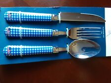 Vineyard vines for target Whale and Gingham 3 Piece Flatware set Incl 2 Sets