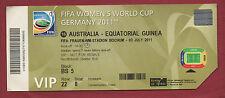 Orig.Ticket    Frauen WM DEUTSCHLAND 2011   AUSTRALIEN - ÄQUATORIALGUINEA  !!