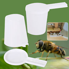 2pcs Beekeeping Honey Entrance Water Drinker Bee Feeder Bottle Set Hive Tool New