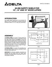 Delta 46-869 Safety Shield Instructions Manual