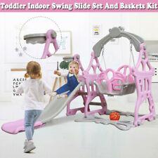 Swing Set For Backyard Home Playground Slide Fun Playset Outdoor Toddler Kids Us