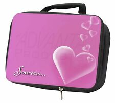 Pink Hearts 'Forever' Sentiment Black Insulated School Lunch Box Bag, LOVE-2LBB
