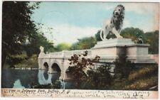 Vintage View In Delaware Park, Buffalo, NY Photo Post Card, 1907