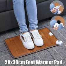 New listing Leather Heating Foot Mat Warmer Electric Heating Pads 220VBSUSY Co