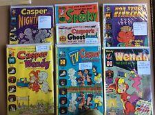 Casper the Friendly Ghost, Wendy, Spooky, & Hot Stuff Comic Books Set of 6